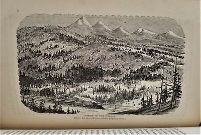 1874 antique CALIFORNIA ROCKY Mts MAP HISTORY mormon gold rush indian rr