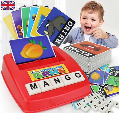 English Spelling Alphabet Letter Game Early Learning Educational Toy Kids Gifts