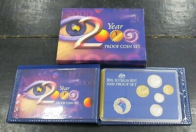 Royal Australian Mint Year 2000 Millennium Six Coin Proof Set