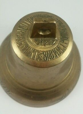 Mid to late19th century Brass Russian bell with Cyrillic inscription.