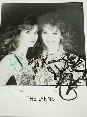 The Lynns Peggy & Patsy Autographed Press Publicity Fan Photo 8 x 10""