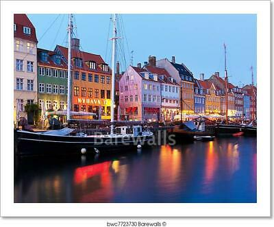 Evening Scenery Of Nyhavn In Art Print/Canvas Home Decor Wall Art Poster - I
