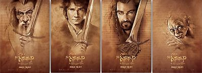 Hobbit (2014) Movie Poster 13 x 20 Set of 4 IMAX Limited Edition