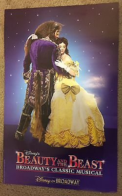 Beauty And The Beast Disney Broadway Musical Poster Playbill Aladdin Lion King