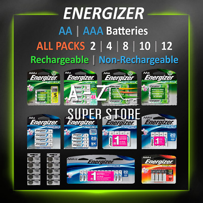 Energizer Batteries AA/AAA Rechargeable/NonRechargeable Lithium 4 8 ALL PACK lot