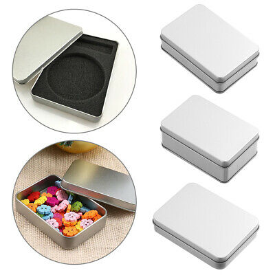 Organizer Small Jewelry Tin Empty Case Coin Candy Keys Metal Storage Box