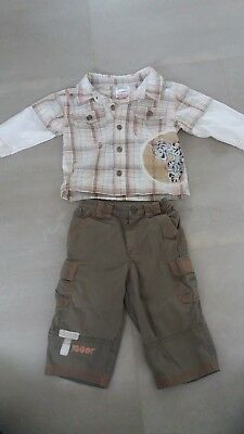 Disney Baby Boys Winnie The Pooh Tigger Outfit 6-9 Months shirt & trousers