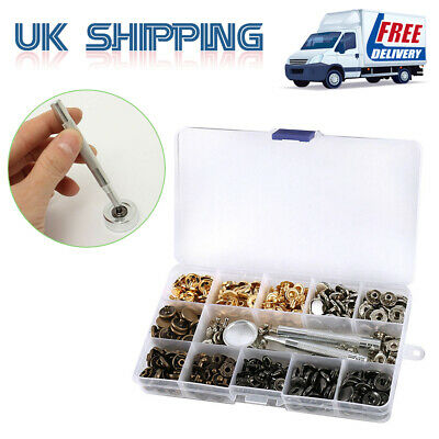 Heavy Duty 13mm 100X Sets Snap Fasteners Poppers Press Stud Set Buttons Tools