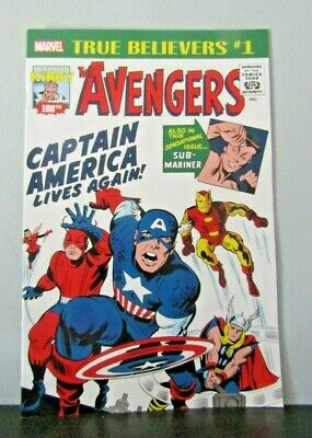 True Believers Kirby 100th Captain America Lives Again #1 2017