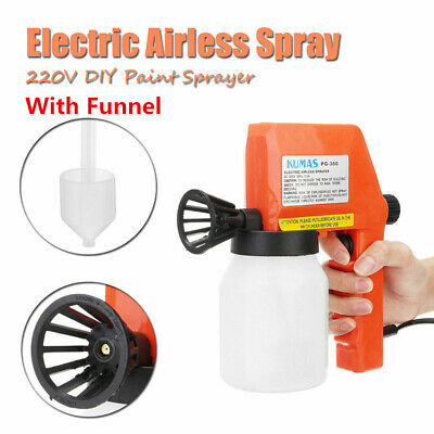 220V Electric Airless Paint Spray Gun Airless House Fence Sprayer Painting Tool