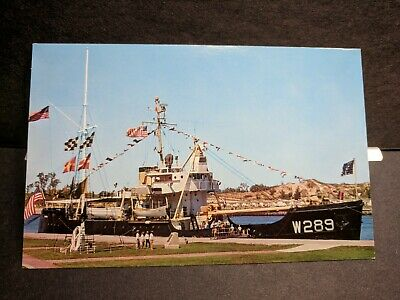 USCGC WOODBINE WLB-289 Naval Cover unused post card GRAND HAVEN, MICH