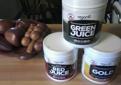Organifi Compo  1 Green Super Food Pow  1 Red 1 Gold Herbal New shipment 5/6