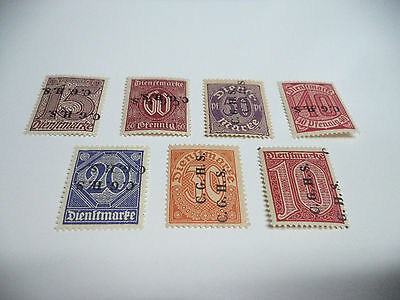 Overprinted German Official stamps C.G.H.S. Mounted mint nice stamps