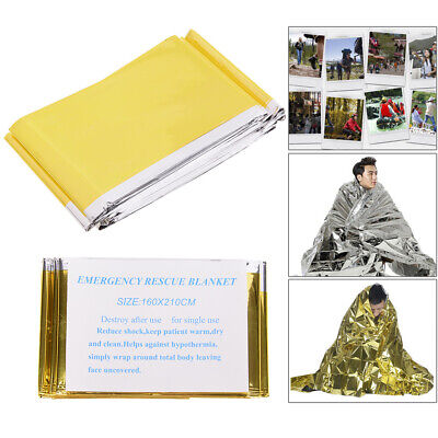 Emergency Blanket Outdoor Rescue Kit Thermal Space Survival Sleeping Bag SheltGN