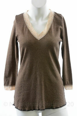 Michael Stars M030 Maternity bamboo shine 3//4 sleeve deep v top shirt NEW $59