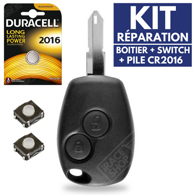 ✔ Kit Shell Rks Key for Remote Control Dacia 2 Buttons ✚Switch ✚Battery Cr2016