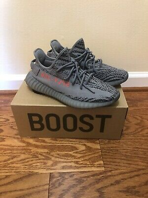 1d0d3768241b7 Adidas Yeezy 350 V2 Boost Authentic Size 10 Grey Red Ah2203 Beluga 2.0 Sply