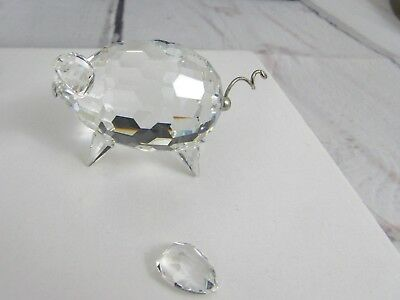 50e8939e1 Swarovski Crystal Med Pig Var 2 Figurine 7638 050 000 Block Mark Damaged