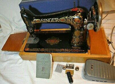 Rare Singer 66 'Red Eye' Electric Vintage Sewing Machine