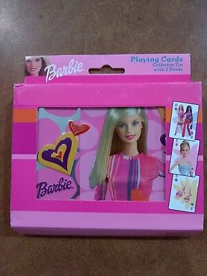 Barbie Playing Cards Collector Tin 2 Decks 762-M2