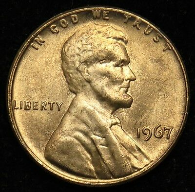 1967 Uncirculated BU Lincoln Memorial Cent Penny (B05)