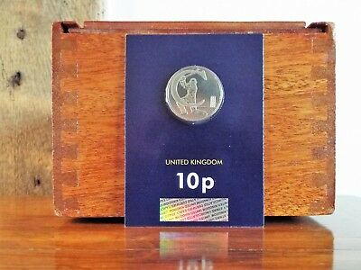 2018 10p New A-Z Certified Early Strike Ten Pence Coin in Pack - C - Cricket