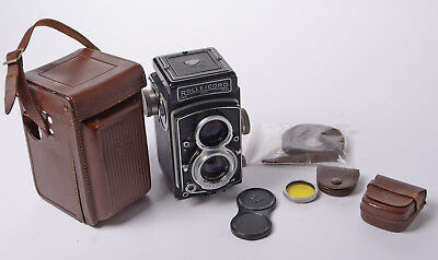 Rolleicord VA Serial No.1940524 with case (split) - Yellow Filter & 2 cases