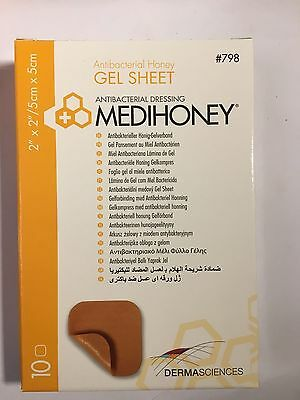 Medihoney Gel Sheet Dressings 5cm x 5cm Antibacterial Manuka Honey for Wounds