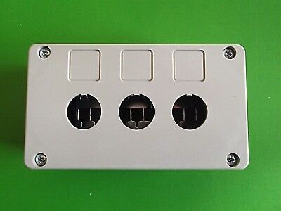 Switch Control Housing Case Box Enclosure 3 Hole 22.5mm 139 80 50mm ER100030 x 1
