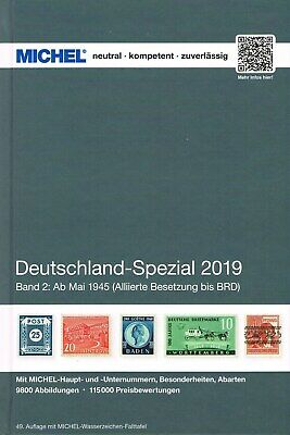 MICHEL CATALOGO GERMANIA SPECIALIZZATO VOLUME 2 2019 Deutschland Spezial