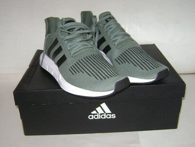 5d5107398f4df NIB adidas SWIFT RUN Men Running Sneakers Shoes Sz 13 Green White Black  CG4115