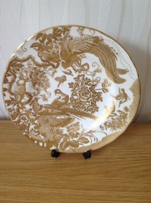 "ROYAL CROWN DERBY 'Gold Aves' Cabinet Plate, 10.5"" Excellent Condition, 1st"