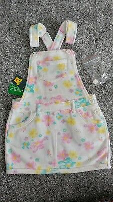 Girls 3-4 Years United Colors of Benetton Dungarees Dress *NEW & TAGS*