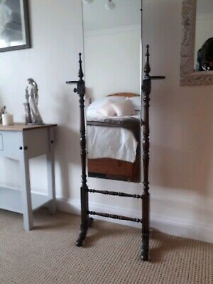 Edwardian Dressing Mirror With Candle Stands