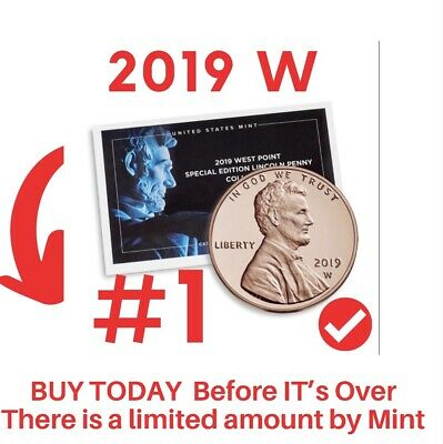 2019 W # 1 Lincoln Penny Premium PROOF West Point PROOF ORIG PACKAGE...