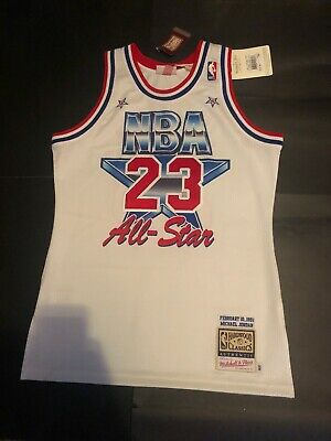 64ca2d25a95 100% Authentic Michael Jordan Mitchell Ness 1991 All star Jersey Size M 40