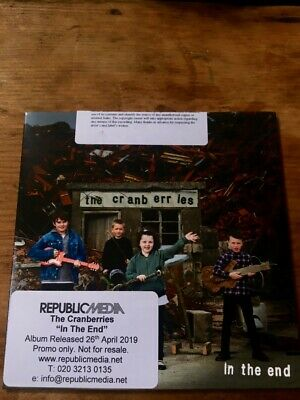 Rare brand new promo CD of THE CRANBERRIES' 2019 UK album IN THE END