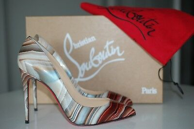 5940d937a CHRISTIAN LOUBOUTIN Pigalle Follies Pointy Galaxy Beige Pump Heel Shoes  5.5/35.5