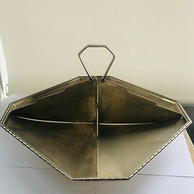 Stylish Art Deco 1920s 1930s Geometric Sectional Serving Dish EPNS Silver Plate
