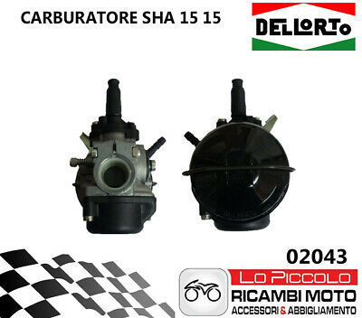 02043 Carburatore Dell'Orto SHA 15 15 MINIQUAD MINICROSS PIT MINI BIKE