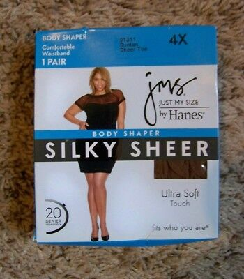 c95b89d3d92 JUST MY SIZE Hanes ~ 1 Pair Women s Pantyhose Suntan Sheer Toe Body ...