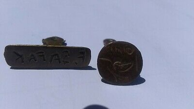 2 Ancient Muslim Islamic Bronze Stamp Seals Circa 17-19 C AD Very Fine LOW Price