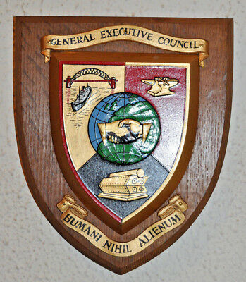 Trade Union ASBSBSW wall plaque shield crest coat of arms