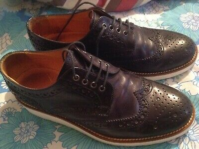 261dccc8dae Jones Bootmaker NAVY BLUE Leather Womens Brogues UK5 EU38 CREPE SOLE LIGHT  WEAR