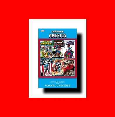 ☆CAPTAIN AMERICA BOOK-OFFICIAL INDEX TO THE MARVEL COMIC UNIVERSE-416pp-HISTORY+