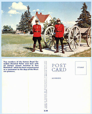 Royal Canadian Mounted Police Cannon Fort Battleford Canada Postcard