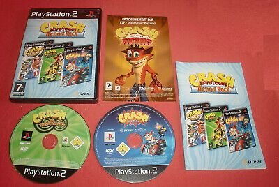 Playstation PS2 Crash Bandicoot Action Pack 2/3 CD [PAL] Two Slim *JRF