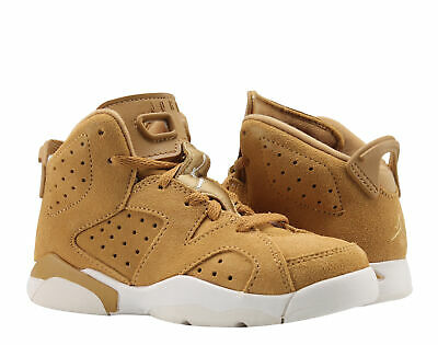 a9077ac67360 Nike Air Jordan 6 Retro BP Golden Harvest Wheat Little Kids Shoes 384666-705
