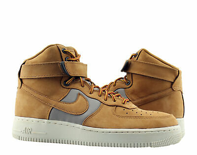 NIKE AIR FORCE 1 High 07 Premium Wheat Khaki Light Bone Flax