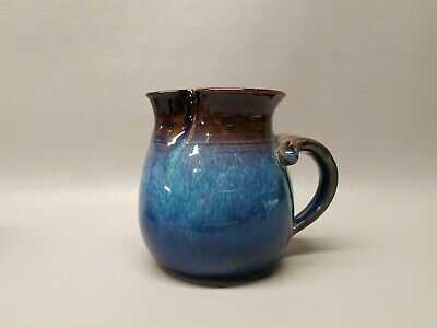 """Art Pottery pinched spout pitcher 4 1/2"""" Jug Morris Pottery signed cup"""